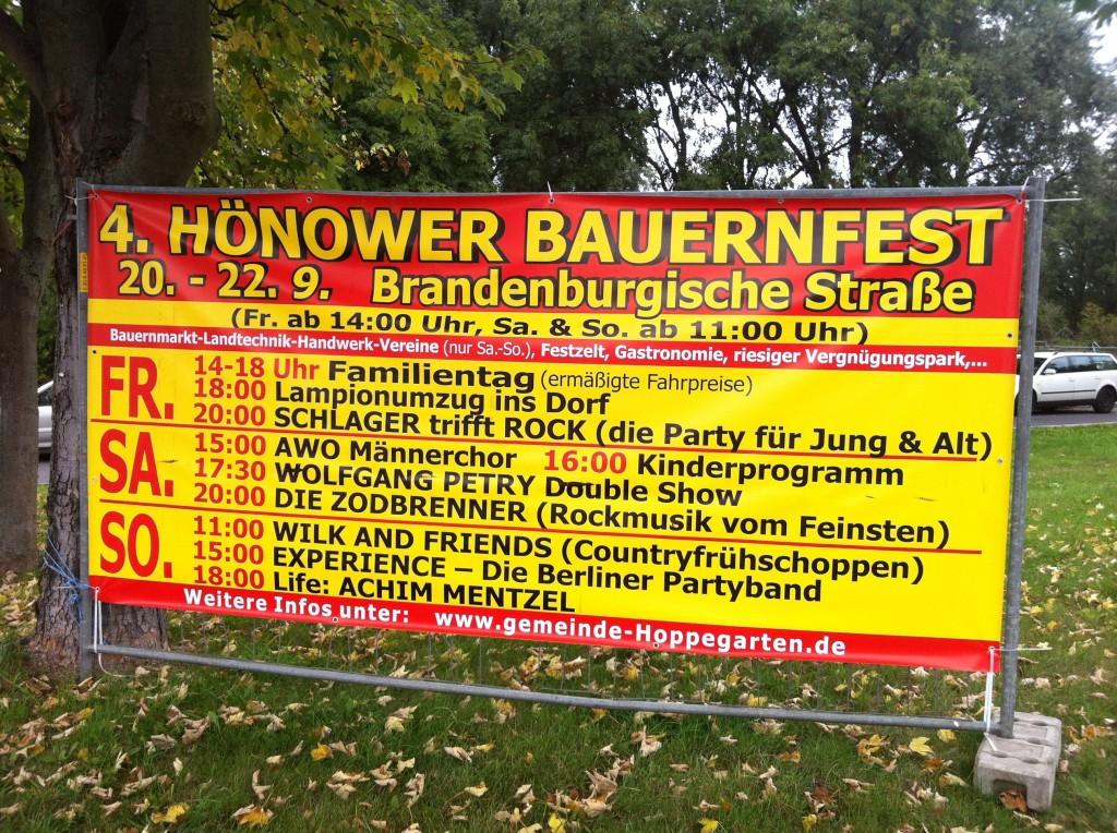 Das Programm - 4. Hönower Bauernfest